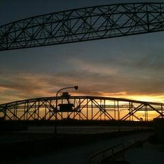 Photo taken at Duluth Lift Bridge by Kelly L. on 1/9/2013