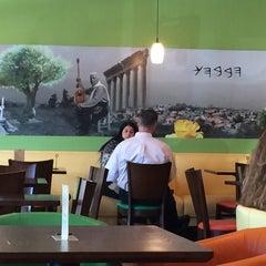 Photo taken at Kibberia Middle Eastern Restaurant & Cafe by Ruchi G. on 9/19/2014