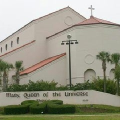 Photo taken at Mary Queen of the Universe by Claudia L. on 3/9/2013