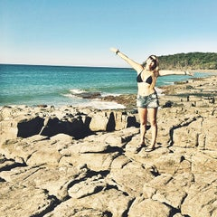 Photo taken at Noosa Heads by Luciana A. on 4/18/2014
