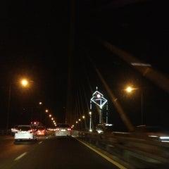 Photo taken at สะพานพระราม 9 (Rama IX Bridge) by Tamajung T. on 3/23/2013