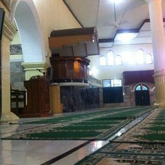 Photo taken at Masjid Agung Baitussalam by Yusuf F. on 9/29/2013