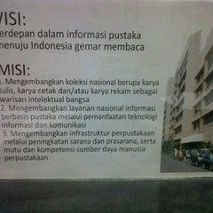 Photo taken at Perpustakaan Nasional RI by Meita R. on 12/8/2012