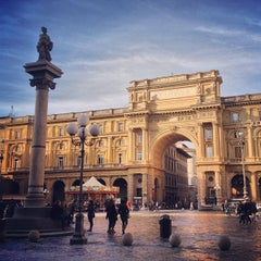Photo taken at Piazza della Repubblica by Samuel M. on 12/29/2012