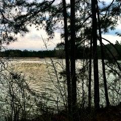 Photo taken at Lake Johnson by Kendall T. on 3/31/2013