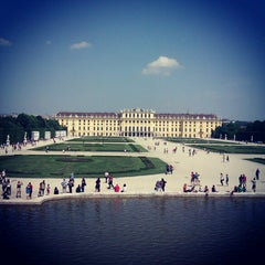 Photo taken at Schloss Schönbrunn by Olya on 5/9/2013