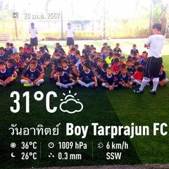 Photo taken at Boy Tarprajun FC by Niwat A. on 4/20/2014