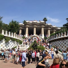 Photo taken at Park Güell by Karina💣 A. on 7/4/2013