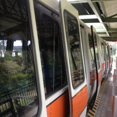 Photo taken at Monorail Orange by Chris M. on 1/22/2013
