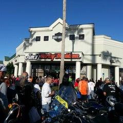 Photo taken at Jim's Harley-Davidson of St. Petersburg by Tina M. on 12/2/2012