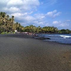 Photo taken at Punalu'u Black Sand Beach by [Princess] on 11/25/2012