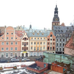 Photo taken at Doma Hostel in Riga by Леха К. on 1/4/2013