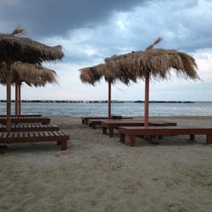 Photo taken at Villa Rosa - Bar Beach & Restaurant by Stefania C. on 6/9/2013