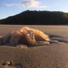 Photo taken at Llansteffan Beach by Matt R. on 7/29/2015