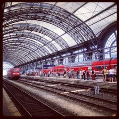 Photo taken at Dresden Hauptbahnhof by Anna R. on 7/28/2013