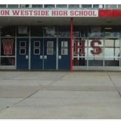 Photo taken at Edmondson High School by Marlo C. on 1/13/2014
