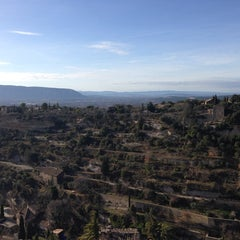 Photo taken at Cercle Républicain de Gordes by Marie Katrien G. on 1/1/2014