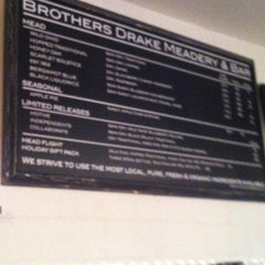 Photo taken at Brothers Drake Meadery by Craig A. on 12/9/2012