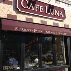 Photo taken at Cafe Luna by Jordan M. on 3/17/2013