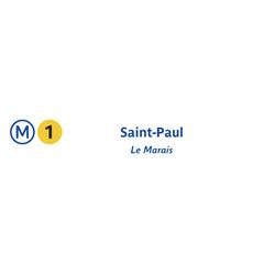 Photo taken at Métro Saint-Paul – Le Marais [1] by RATP on 7/19/2013