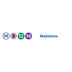 Photo taken at Métro Madeleine [8,12,14] by RATP on 7/19/2013
