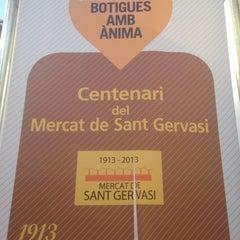 Photo taken at Mercat de Sant Gervasi by Raúl M. on 10/31/2013