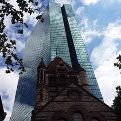 Photo taken at Copley Square by Cristhian M. on 5/23/2013