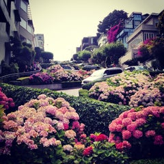 Photo taken at Lombard Street by Bill S. on 7/11/2013