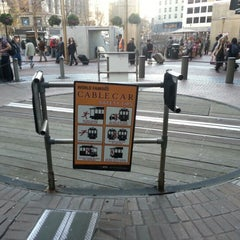 Photo taken at Powell Street Cable Car Turnaround by Matías P. on 12/11/2012