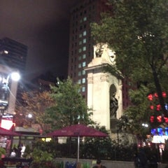 Photo taken at Herald Square by Josh W. on 10/27/2012