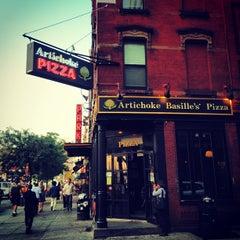Photo taken at Artichoke Basille's Pizza & Bar by Brett S. on 9/10/2013