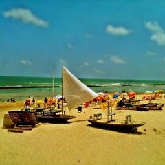 Photo taken at Praia do Pina by Gregorio R. on 12/20/2012