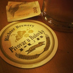 Photo taken at Pivovar u Bulovky (Richter Brewery) by Илья К. on 1/16/2013
