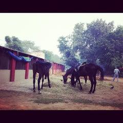 Photo taken at Delhi Riding Club by Hiroshi O. on 10/21/2012