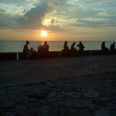 Photo taken at Pantai Morib by Joy S. on 3/16/2013
