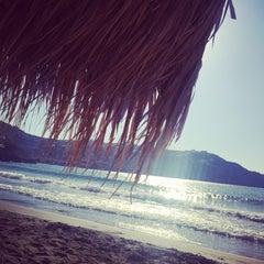 Photo taken at Παραλία Κινίου (Kini Beach) by Efi T. on 9/19/2015