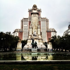 Photo taken at Plaza de España by Robert D. on 11/3/2012