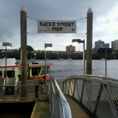 Photo taken at Eagle Street Pier Ferry Terminal by Xavier V. on 11/17/2012