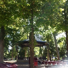 Photo taken at Jardin de l'Archevêché by Nicolas G. on 9/2/2014
