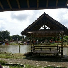 Photo taken at Danau perum Alamanda regency by Dyah N. on 3/22/2014