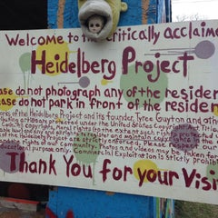 Photo taken at The Heidelberg Project by Chris T. on 4/13/2013
