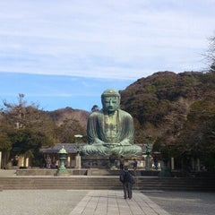 Photo taken at 鎌倉大仏 (Great Buddha of Kamakura) by Toshi K. on 1/6/2013