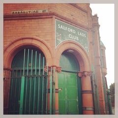 Photo taken at Salford Lads Club by Lorena M. on 12/30/2014