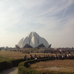 Photo taken at Lotus Temple (Bahá'í House of Worship) by n a. on 12/5/2012
