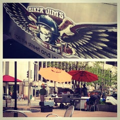 Photo taken at Biker Jim's Gourmet Dogs by Anna D. on 5/23/2013