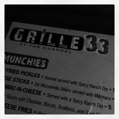 Photo taken at Grille 33 at The Channel by Mitch B. on 1/30/2013