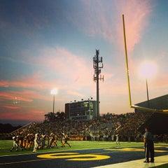 Photo taken at Memorial Field EGR Stadium by Jennifer B. on 9/7/2013