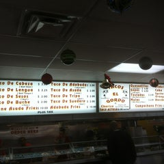 Photo taken at Tacos El Gordo by Christopher L. on 12/5/2012
