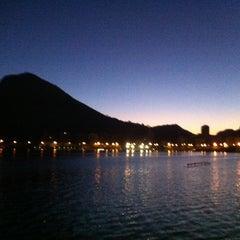 Photo taken at Lagoa Rodrigo de Freitas by Daniel T. on 5/9/2013
