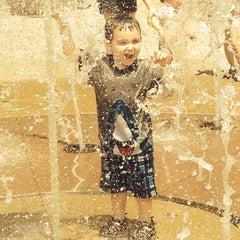 Photo taken at Stony Point - Pop Jet Fountain by Michelle K. on 7/4/2014